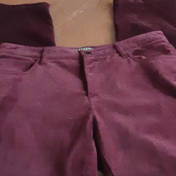 Lauren Ralph Lauren Pants - Ralph Lauren burgundy cotton velveteen pants